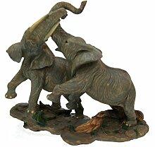 2 Elefanten Afrika Figur Skulptur Sammelfigur