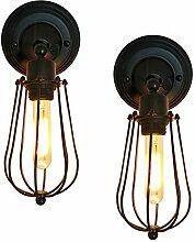 2 er Pack Wandlampe Vintage Industrial E27