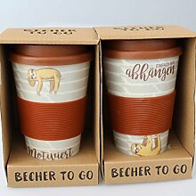 2 er SET ( = 2 Stück ) - COFFEE TO GO -BECHER