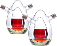 2-er Set 2in1- Essig- und Öl-Spender aus Glas