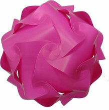 2 er Set Lampenschirm pink Puzzle Lampe pink