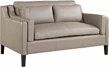 2-er Sofa aus Leder hell, x