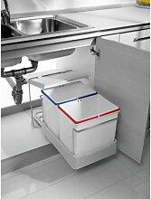 2-fach Küchen Einbau Abfalleimer Electa1, 2x 16