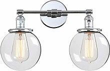 2-flammig Bad Spiegellampe Vintage Wandleuchte