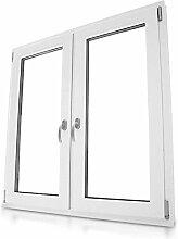 2-flg Fenster Kunststoff Dreh-Kipp, weiß, 2-fach