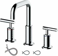 2-Griff breiter Wasserhahn für Waschbecken mit