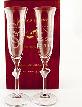 Sektgläser Hochzeit Gravur günstig online kaufen | LIONSHOME