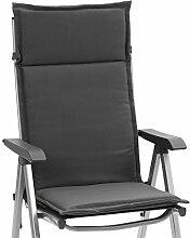 2 Hochlehner Sessel Auflagen Kuba 50234-702 in uni grau 121 cm lang (ohne Stuhl)