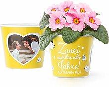 2 Hochzeitstag Geschenk Blumentopf (ø16cm) | 2
