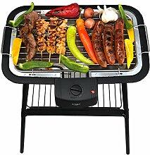 2 in 1 Elektro Grill | Standgrill | Tischgrill | Partygrill | elektrischer BBQ Grill | Cool Touch Griffe | Tisch Grill elektrisch | 2.000 Wa