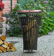 2 in 1 Korono Feuerkorb 40x75 cm + Grill Rost