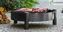 2 in 1 Korono Feuerschale 70 cm & Grill Rost 50x50 cm | Grillen & Chillen | Feuerstelle - Feuergrill