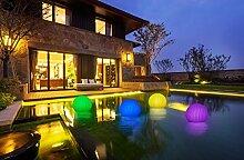 2-in-1 Solar Gartenleuchte Blüte - Schwimmkugel