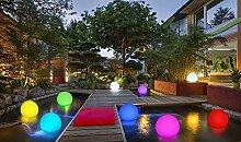 2-in-1 Solar Gartenleuchte - Schwimmkugel mit LED Beleuchtung / kabellos  / schwimmfähig / 8 Farben / optionaler Farbwechsel / Ø 30cm / IP67 / RGB / Kugel Solarlampe / Dekoleuchte / Außenleuchte / Gartenlampe / Dekokugel / Leuchtkugel / Kugelleuchte / Solarleuchte