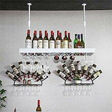2- In-1-Weinregal - Wandbehang aus Eisen