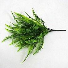 2Kärtchen, jeweils grün Nachahmung Farn Kunststoff Künstliche Gras Blätter Pflanze für Home Hochzeit Decor