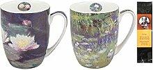 2 Kaffee- oder Teebecher Monet Seerosen in