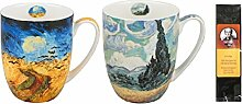 2 Kaffee- oder Teebecher Van Gogh Weizenfelder in