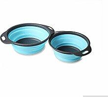 2 Kunststoff aufbewahrungskörbe Faltenfilter Warenkorb Obst Gemüse waschen mit filter Einklappen Küche, CC, Griff 3