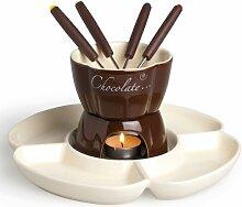 2 L Fondue-Set Chocolate aus Keramik Excelsa