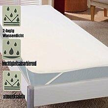 2-lagiger Frottee Matratzenschutz 90x200cm Weiß Matratzenschoner Inkontinenzschoner Inkontinenzauflage wasserdich
