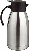 2 Liter Isolierkanne Kaffeekanne Thermoskanne