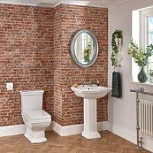 2-Loch Stand-Waschbecken mit Säule und