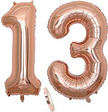 2 Luftballons Zahl 13, Nummer 13 Luftballon