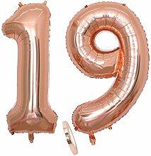 2 Luftballons Zahl 19, Nummer 19 Luftballon