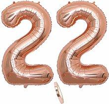 2 Luftballons Zahl 22, Nummer 22 Luftballon