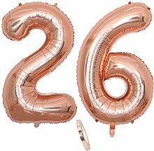 2 Luftballons Zahl 26, Nummer 26 Luftballon