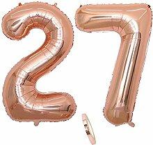 2 Luftballons Zahl 27, Nummer 27 Luftballon