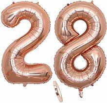 2 Luftballons Zahl 28, Nummer 28 Luftballon
