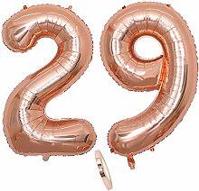 2 Luftballons Zahl 29, Nummer 29 Luftballon