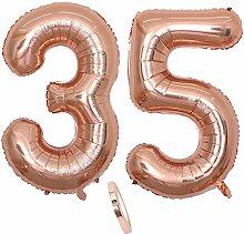 2 Luftballons Zahl 35, Nummer 35 Luftballon