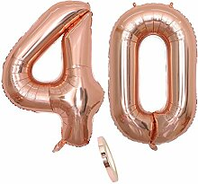 2 Luftballons Zahl 40, Nummer 40 Luftballon