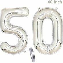 2 Luftballons Zahl 50,Nummer 50 Geburtstags