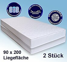 2 Matratzen Avance 90x200cm, Taschenfederkernmatratze, 2er-Set, Härtegrad mittelhart H2 / H3, TFK Matratze