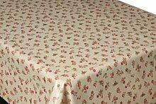 2Meter (200x 137cm) Beschichtete Baumwolle Wachstuch Tischdecke English Roses abwischbar Best Qualität (jcr2))
