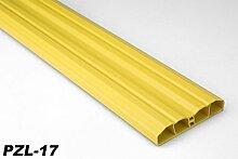 2 Meter PVC Zaunlatte Kunststoff Profil Zaunbrett Leiste Gartenzaun 80x16mm, PZL, Farbe:PZL-17 - Gelb