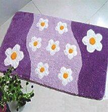2 Modell Blume Knüpfteppich für Kinder und