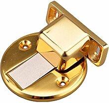 2 Montiert Hardware-Zink-Legierungsmagnet Crash Absorbieren Und Unsichtbaren Magnetischer Türstopper,Gold
