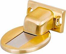 2 Montiert Hardware-Zink-Legierungsmagnet Crash Unsichtbare Tür Absorbieren Ansaugen Türberührungs Mute,Gold