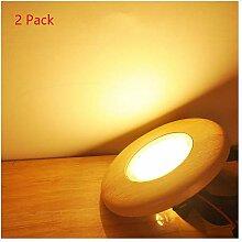 2 Pack 3W Einbaustrahler Eiche LED Integrierter