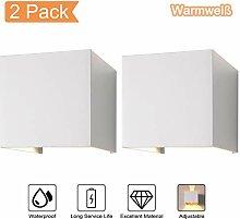 2-Pack 7W LED Wandleuchte Aussen Wandlampe