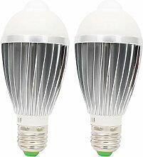2 Pack E27 Fassung LED Glühbirne Birne Lampe 7W
