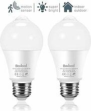2 Pack LED Glühbirne mit Bewegungsmelder, 12W