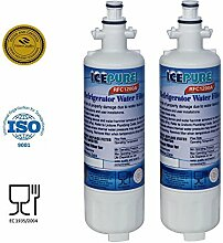 2 Pack LG 6 month 200 Gallon Capacity Replacement Refrigerator Water Filter LT700P By IcePure RFC1200A