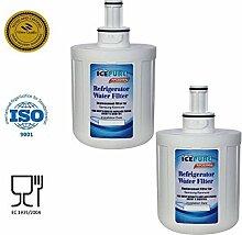 2 Pack Samsung refrigerator water filter da2900003b da2900003a replacement water filter by IcePure RFC0200A