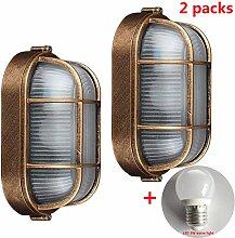 2 Packungen Außenlampe, Vintage Gitter Lampe,